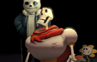 Sans and Papyrus Fall