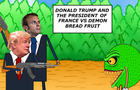 Donald trump and the president of France vs demon bread fruit