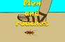Stick Baits cartoon - Men and roaches