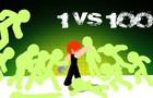 The Brawlers Room-1 vs 100(stickman fight)Mecha-5 room 1