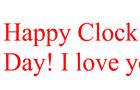 Happy Clock day everyone!