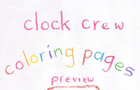 Clock Crew Coloring Pages