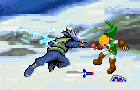 Link vs Kakashi + Lee