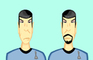 Good and Evil Spock