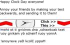 ClockDay Text Backwards
