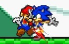 Sonic vs mario short vers