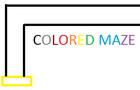 Colored Maze