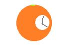 Messy OrangeClock