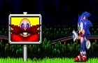 Sonic and the goal post.