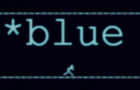 *blue