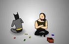 Batman and Bane...