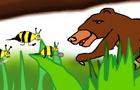 bear stung by fairy bee