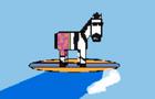 The Surfer Zebra