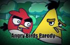 Birds derping Angry Birds