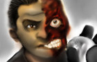 Two-face speed paint