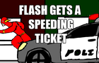 Flash gets a speeding tic