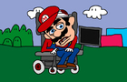 Handicapped Mario.