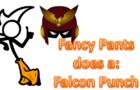 Fancy Pants does a Falcon Punch