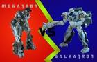 Megatron VS Galvatron (Transformers Stop Motion)