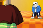 Chara vs Sans (Undertale animation)