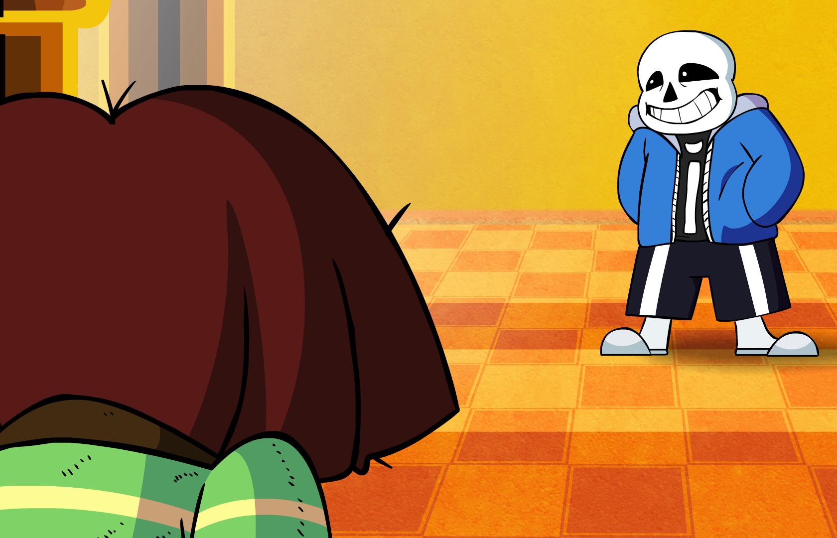 chara vs sans undertale animation