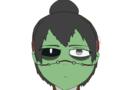 Drawing headshot of one of my OCs: Zula The smart zombie