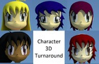 Characters 3D Turnaround