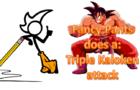 Fancy Pants does a Triple Kaioken attack