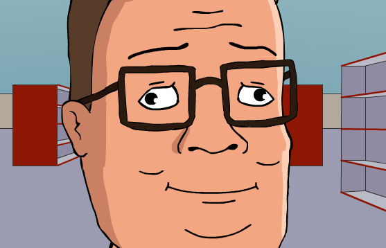Hank Hill at the Store