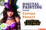 Caitlyn fanart speed painting