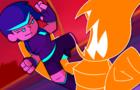Vampire Pixel in the Neon City