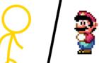 Stick Figure vs. Mario - 1 Minute Preview
