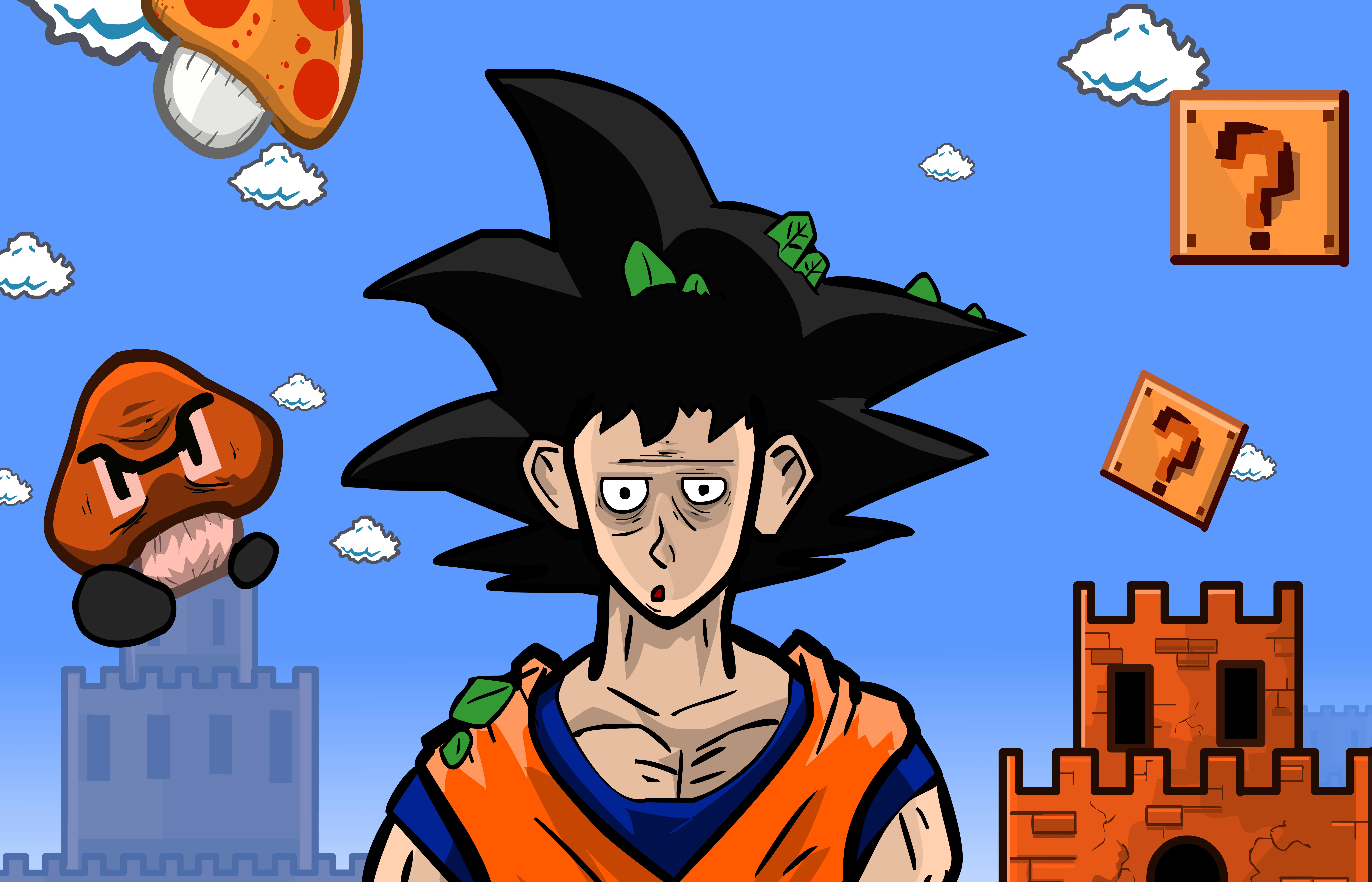 Goku in Super Mario World