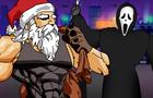 Ghostface challenges Santa Claus