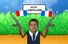 emmanuelle macron the new president of france 2017. 100 % 100 VOTE victory