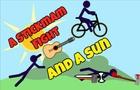 A stickman fight and a sun