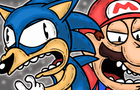 A Cute Mario and Sonic Cartoon