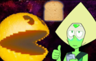 Peridot Pac-Man and a Slice of Bread