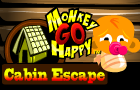 Monkey GO Happy Cabin Escape