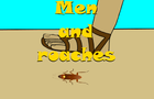 Stick Baits cartoon - Men and roaches