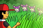 Walking through grass in Pokemon