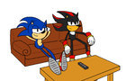 Sonic and Shadow Watch TV