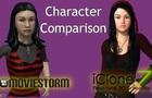 Cereza's Character Model Comparison