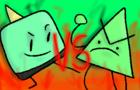 Evil Traingle man VS Spine | Flipnote