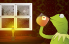 Kermit sips his tea and minds his own business