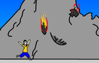 Dodge the Volcano Bombs