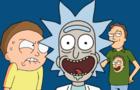 Rick Escapes Through Portal
