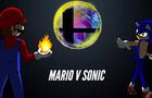 Smash Bros Switch animation Sonic versus Mario