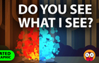 Do you see what I see? - Illusion of Colors (Animated Infographic)