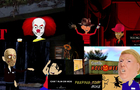 SKELE'S FROM THE SCRYPT W/ Michael Myers, Freddy Krueger, Jason Voorhees, Pennywise (CARTOON)